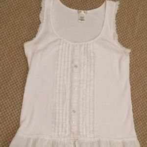 Charlotte Russe Frilly Wife Beater  Size Medium